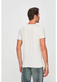 Biały t-shirt Brave Soul gładki, na co dzień