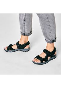 Czarne sandały Rieker casualowe, na co dzień
