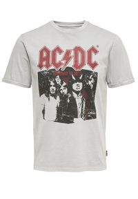 Only & Sons - ONLY & SONS T-Shirt Acdc 22018973 Szary Regular Fit. Kolor: szary