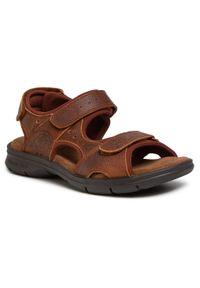 Brązowe sandały Panama Jack klasyczne, na lato, na co dzień