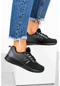 Casu - Czarne buty sportowe sznurowane casu b97-2. Kolor: czarny, wielokolorowy, szary