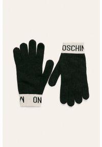Czarne rękawiczki MOSCHINO