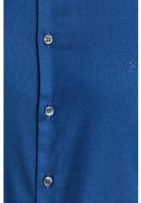 Niebieska koszula Calvin Klein długa, z długim rękawem, casualowa