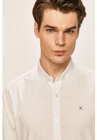 Biała koszula Clean Cut Copenhagen elegancka, na co dzień, button down, długa
