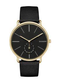 Skagen - Zegarek SKW6217. Kolor: czarny. Materiał: skóra, materiał