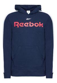 Reebok Bluza Training Essentials Linear Logo GL3150 Granatowy Slim Fit. Kolor: niebieski