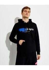 PALM ANGELS - Czarna bluza z graficznym logo. Kolor: czarny. Materiał: bawełna. Długość rękawa: długi rękaw. Długość: długie. Wzór: aplikacja