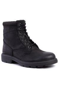 Czarne buty zimowe Ugg z cholewką, z cholewką przed kolano