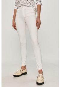 Białe jeansy TOMMY HILFIGER gładkie