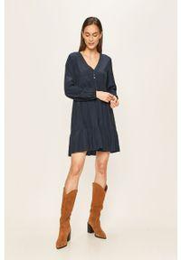 Niebieska sukienka Vila rozkloszowana, casualowa, na co dzień, mini #5
