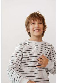 Szara bluza Mango Kids casualowa, na co dzień, bez kaptura