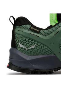 Zielone buty trekkingowe Salewa z cholewką, trekkingowe, Gore-Tex