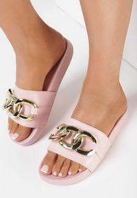Born2be - Różowe Klapki Elenig. Nosek buta: otwarty. Kolor: różowy. Materiał: guma