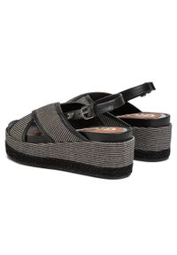 Czarne sandały Gioseppo casualowe, na co dzień