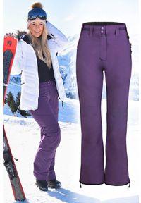 Fioletowe spodnie IVET na zimę, sportowe