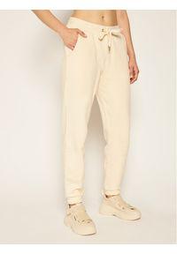 Beżowe spodnie dresowe Trussardi Jeans