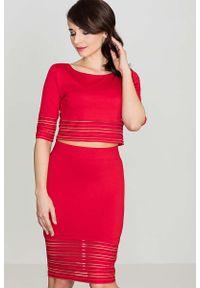 Czerwona spódnica ołówkowa Katrus krótka