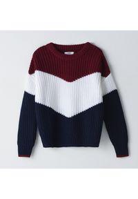 Sweter Cropp w kolorowe wzory