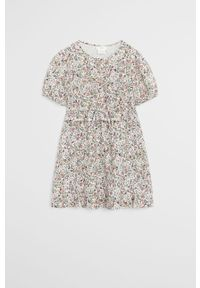 Sukienka Mango Kids w kwiaty, rozkloszowana, z krótkim rękawem #6