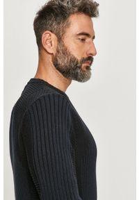 Czarny sweter G-Star RAW z długim rękawem, długi, na co dzień
