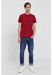 Pepe Jeans - T-shirt RAMON. Okazja: na co dzień. Kolor: czerwony. Wzór: nadruk. Styl: casual