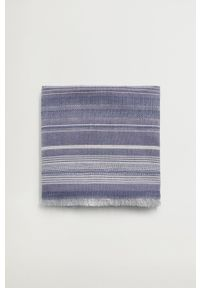 Mango Man - Chusta MALLORCA. Kolor: niebieski. Materiał: tkanina, materiał