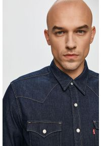 Niebieska koszula Levi's® długa, biznesowa, na spotkanie biznesowe