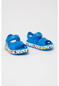 Niebieskie sandały Coqui na rzepy