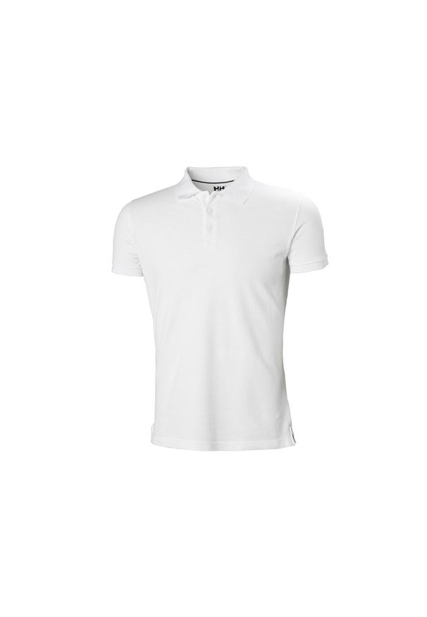Biała koszulka sportowa Helly Hansen polo, w kolorowe wzory