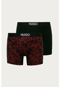 Czarne majtki Hugo z nadrukiem