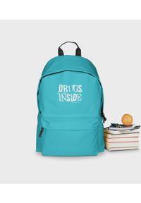 MegaKoszulki - Plecak szkolny Drugs inside - plecak niebieski. Kolor: niebieski