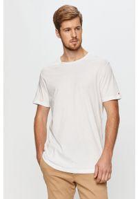 Biały t-shirt John Frank na co dzień, casualowy