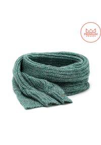 Ciepły szal damski na zimę PaMaMi- Zielony. Kolor: zielony. Materiał: moher, wełna, wiskoza, akryl. Sezon: zima