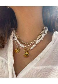 SELFIE JEWELLERY - Naszyjnik z perłami Day&night. Materiał: złote. Kolor: biały. Kamień szlachetny: perła