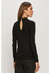 Czarny sweter Vila casualowy, długi