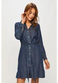 Niebieska sukienka Vila prosta, casualowa