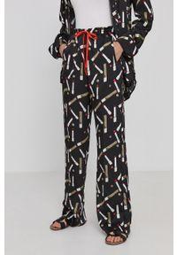 Victoria Victoria Beckham - Spodnie. Kolor: czarny. Materiał: tkanina, poliester