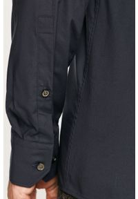 Niebieska koszula Hugo z długim rękawem, klasyczna, długa, z klasycznym kołnierzykiem