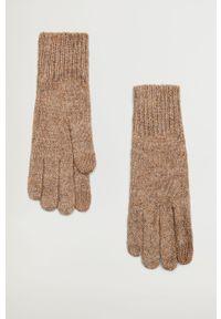 Brązowe rękawiczki mango