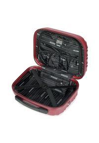 Wittchen - Kosmetyczka podróżna z ABS-u z żebrowaniem. Kolor: czerwony