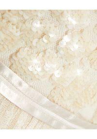 NEEDLE & THREAD - Sukienka midi Aurelia. Kolor: beżowy. Materiał: tiul, szyfon, satyna. Typ sukienki: rozkloszowane. Długość: midi