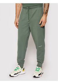 Calvin Klein Jeans Spodnie dresowe J30J317688 Zielony Regular Fit. Kolor: zielony. Materiał: dresówka