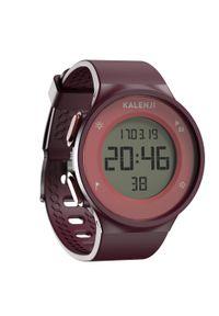 KALENJI - Zegarek do biegania W500 M bordowy. Rodzaj zegarka: cyfrowe. Kolor: czerwony