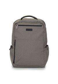 """Wittchen - Męski plecak na laptopa 15,6"""" z boczną kieszenią. Kolor: wielokolorowy, beżowy, czarny. Materiał: poliester. Styl: klasyczny, casual"""