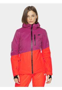 Kurtka narciarska 4f na zimę, z kapturem