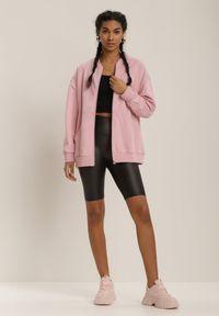 Renee - Różowa Bluza Nephelane. Kolor: różowy. Materiał: bawełna. Długość rękawa: długi rękaw. Długość: długie