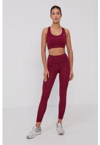 Deha - Legginsy sportowe. Kolor: czerwony. Materiał: włókno, dzianina, materiał, syntetyk. Wzór: gładki. Styl: sportowy