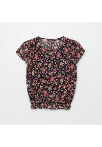 Czarna koszula Cropp w kwiaty