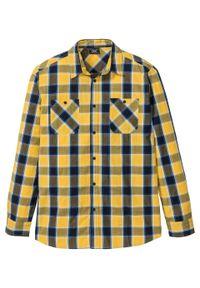 Żółta koszula bonprix długa, z długim rękawem