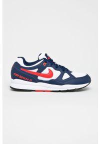 Niebieskie sneakersy Nike z okrągłym noskiem, z cholewką, na sznurówki